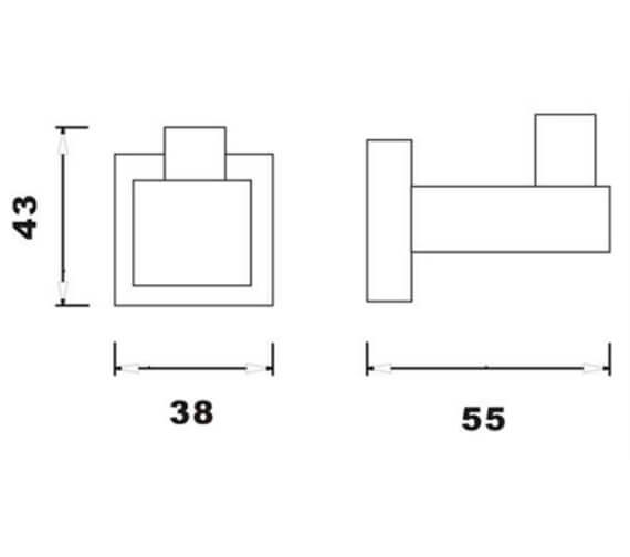 Technical drawing QS-V103307 / RAKCUB9909