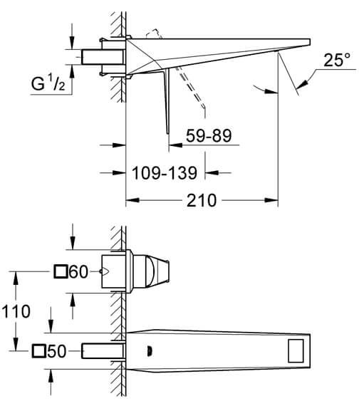 Technical drawing QS-V55858 / 19781000