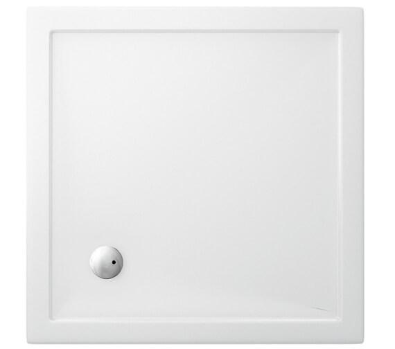 Britton Zamori 1000 x 1000mm Square White Shower Tray - Z1162
