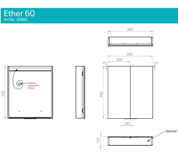 Technical drawing QS-V99577 / 50600