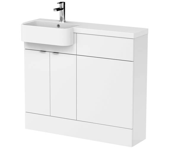 Hudson Reed Fusion Combination Furniture Pack - Vanity And WC Unit With Basin