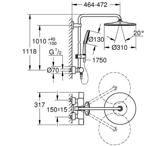 Technical drawing QS-V102616 / 26647000