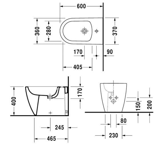 Technical drawing QS-V6362 / 2289100000