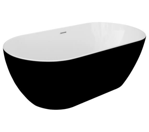 Aqua Summit 800 x 1680mm Graphite Black Freestanding Bath