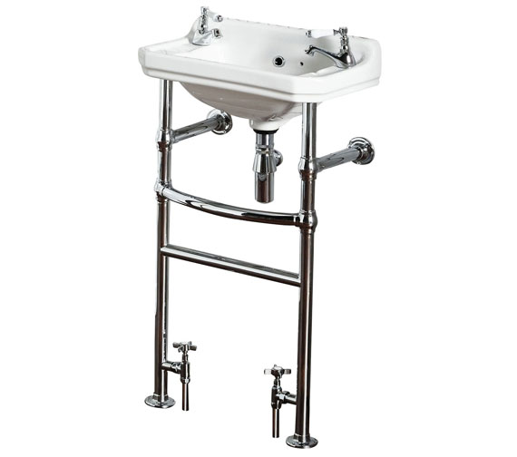 Holborn Traditional Heated Washstand With Basin And Towel Rail