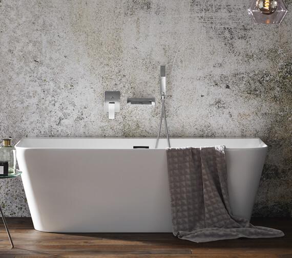 Aqua Mono 1700 x 800mm Luxury Back-To-Wall Freestanding Bath