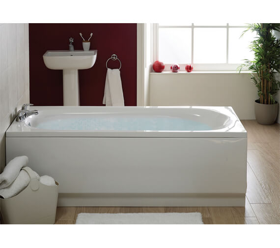 Alternate image of Aqua Caymen Round Single Ended Straight Bath - Sizes And Variants Available