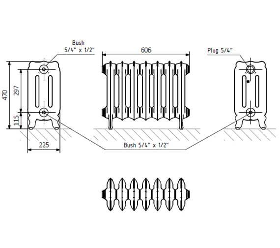 Technical drawing QS-V42589 / CBT3200