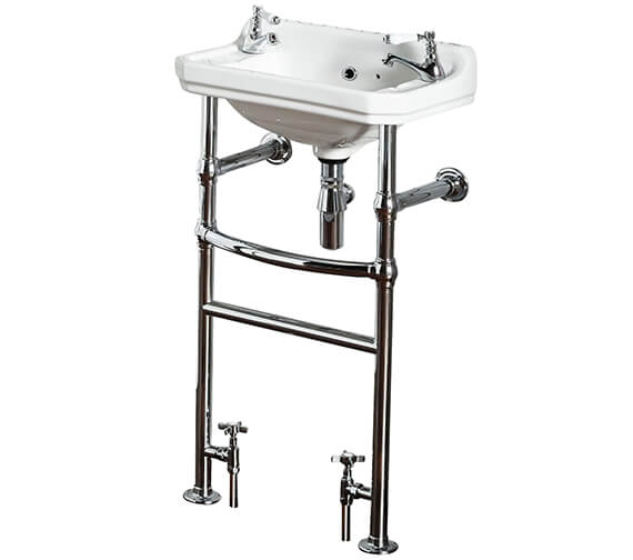 Holborn Heated Washstand With 500mm Basin and Towel Rail
