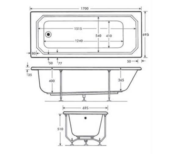 Technical drawing QS-V98160 / TRADW|BR6CP