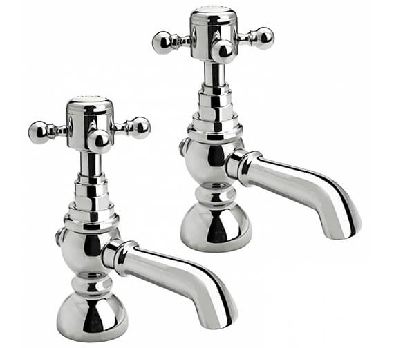 Holborn Edwardian Chrome Single Bath Taps