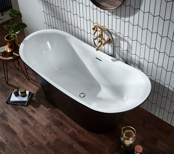 Additional image of Holborn Bow Traditional 1800 x 800mm Double Ended Freestanding Bath