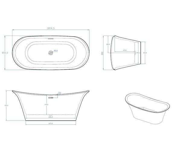 Technical drawing QS-V100796 / SI806158