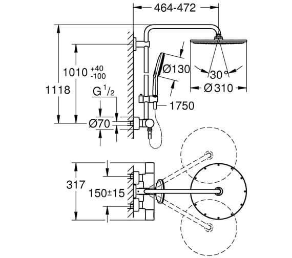 Technical drawing QS-V102619 / 27966001