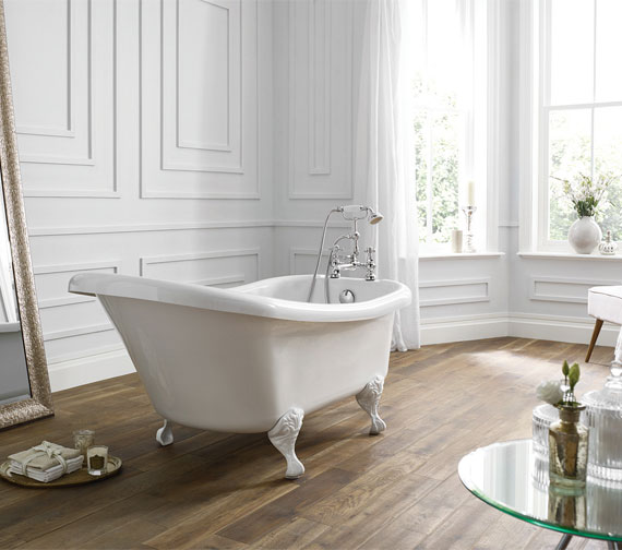 Additional image of Holborn Camden Traditional 1500 x 750mm Freestanding Slipper Bath