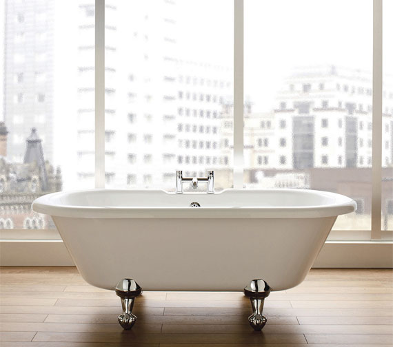 Additional image of Holborn Hebden 1700mm Double Ended Freestanding Bath