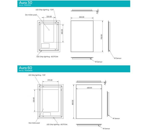 Technical drawing QS-V99580 / 79560500