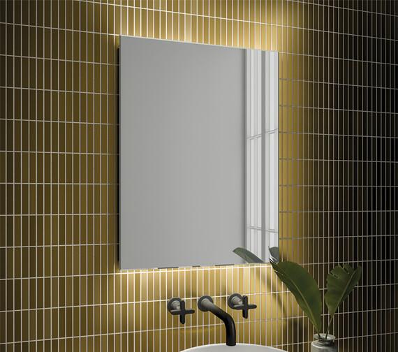 HIB Aura LED Illuminated Bathroom Mirror With Sensor Switch And Heated Pad