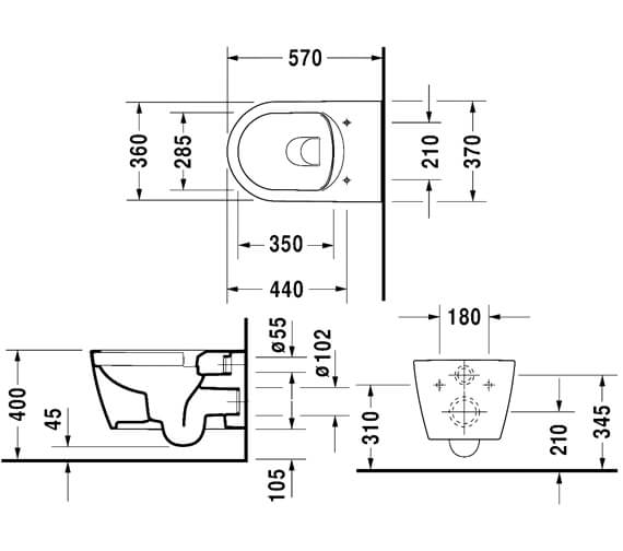 Technical drawing QS-V6364 / 2529090000