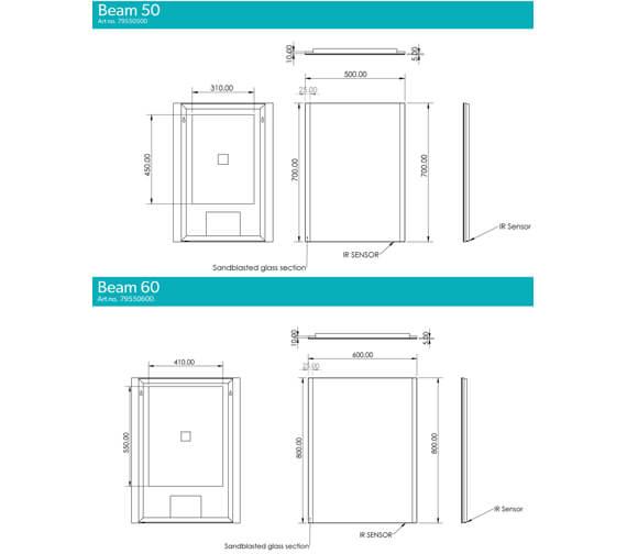 Technical drawing QS-V99581 / 79550500