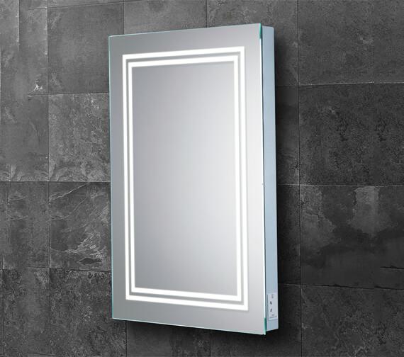 Additional image of HIB Boundary LED Illuminated Steam-Free Bathroom Mirror With Charging Socket