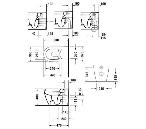 Technical drawing QS-V6366 / 2169090000
