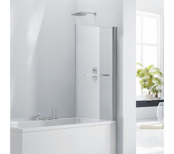 Aquaglass 8mm Square Bath Screen With 180 Degree Opening