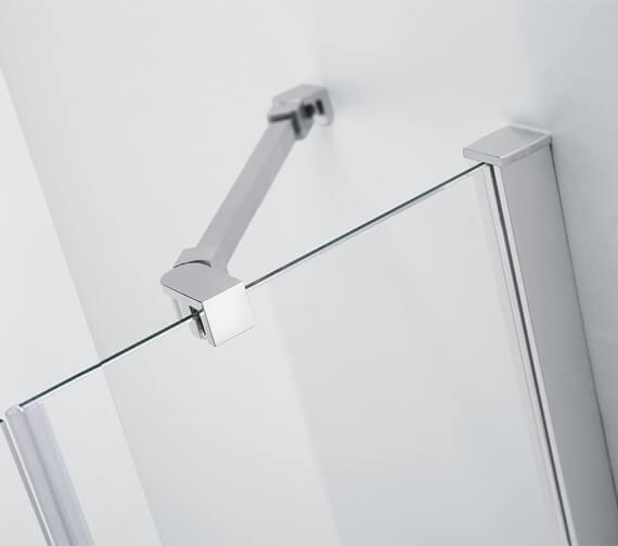 Alternate image of Aquaglass 6mm Frame-less 4 Fold Bath Screen