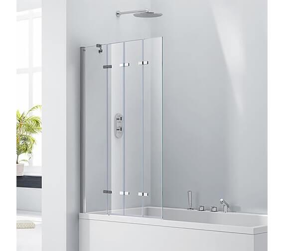 Aquaglass 6mm Frame-less 4 Fold Bath Screen