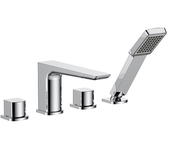 Aqua Edition Sabre 4 Tap Hole Bath Shower Mixer Tap