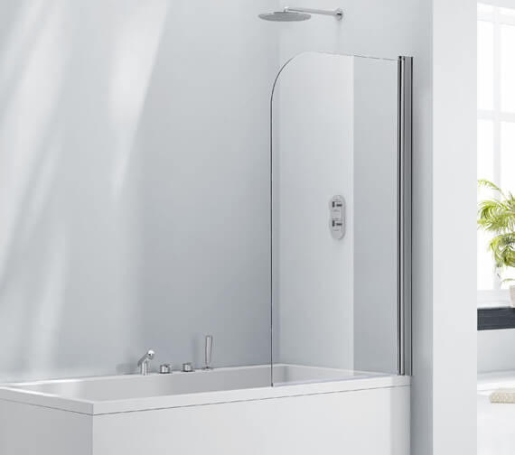 Aquaglass 6mm Single Rise And Fall Bath Screen