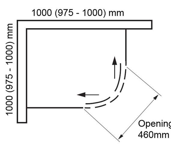 Additional image of Aquaglass Plus Frameless 8mm 2 Door Quadrant Enclosure