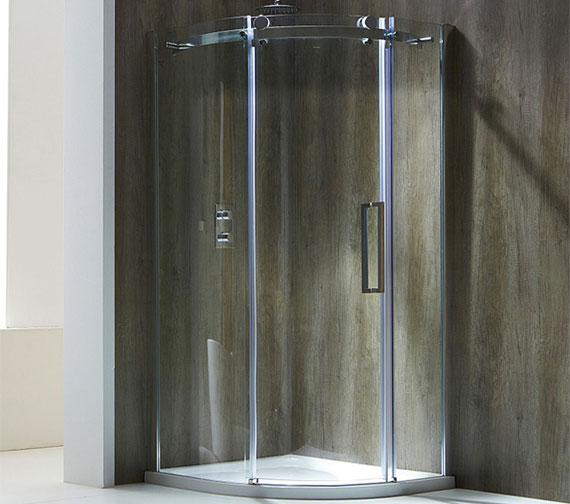 Aquaglass Plus Frameless 8mm 1 Door Offset Quadrant Enclosure