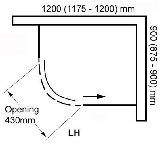 Additional image of Aquaglass Plus Frameless 8mm 1 Door Offset Quadrant Enclosure