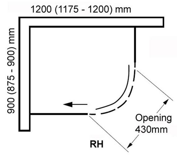 Alternate image of Aquaglass Plus Frameless 8mm 1 Door Offset Quadrant Enclosure