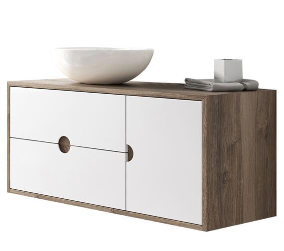 Aqua Kompass 1000mm Wide 1 Door And 2 Drawer Wall-Hung Furniture Unit
