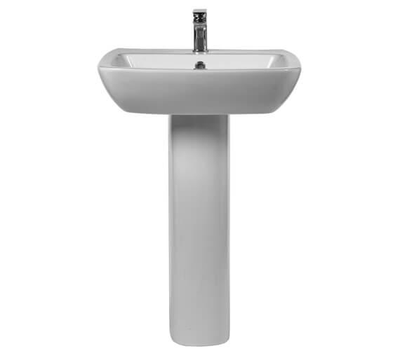 Aqua Piccolo 570mm 1 Taphole Basin With Full Pedestal
