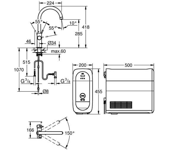 Technical drawing QS-V87071 / 31455000
