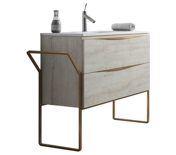Additional image of Aqua Vogue Two Drawers Wall-Mounted Vanity Unit