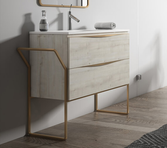 Alternate image of Aqua Vogue Two Drawers Wall-Mounted Vanity Unit