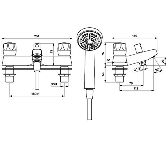 Technical drawing QS-V28860 / B9871AA