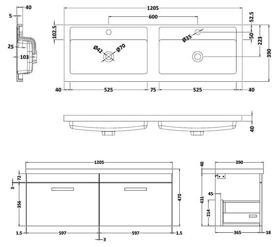 Technical drawing QS-V42489 / ATH041C
