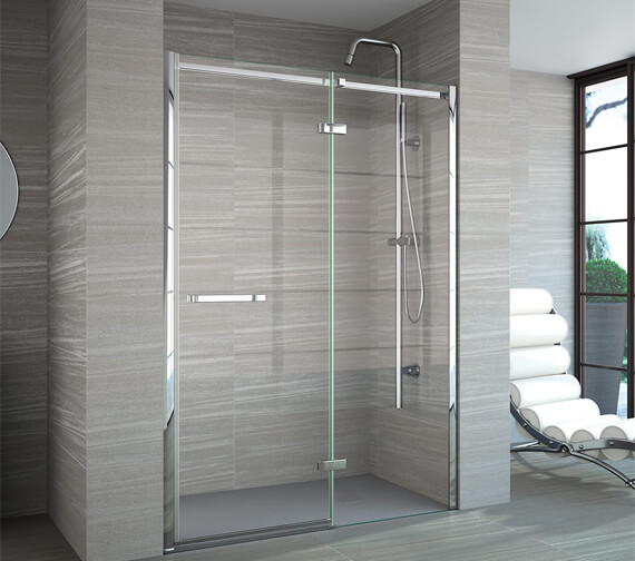 Additional image of Merlyn 8 Series Recess Frameless Hinge And Inline Door