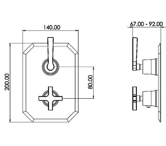 Technical drawing QS-V102016 / CR019L