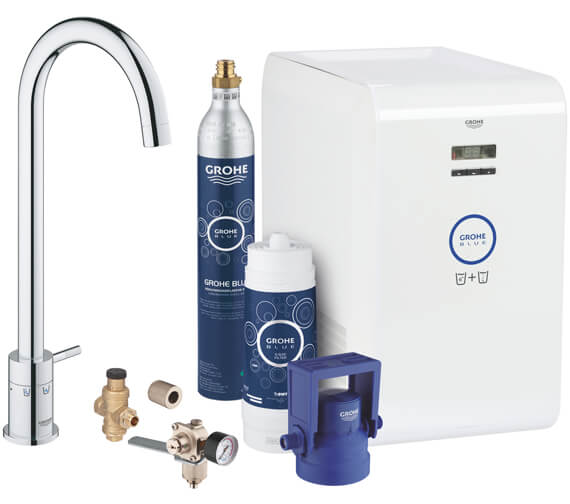 Grohe Blue Kitchen Sink Mixer Tap With Mono Starter kit