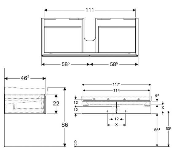 Technical drawing QS-V93744 / 500.517.01.1