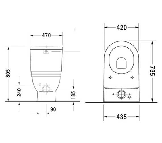 Technical drawing QS-V45460 / 2104090000