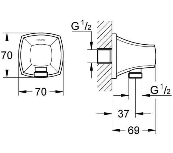 Technical drawing QS-V76935 / 27970000
