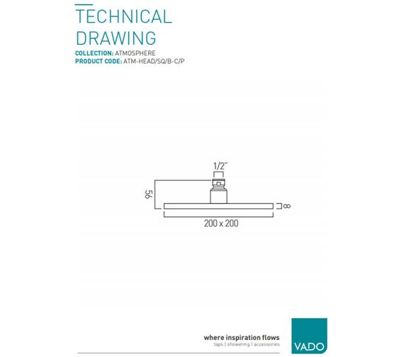 Technical drawing QS-V58865 / ATM-HEAD/SQ/B-C/P