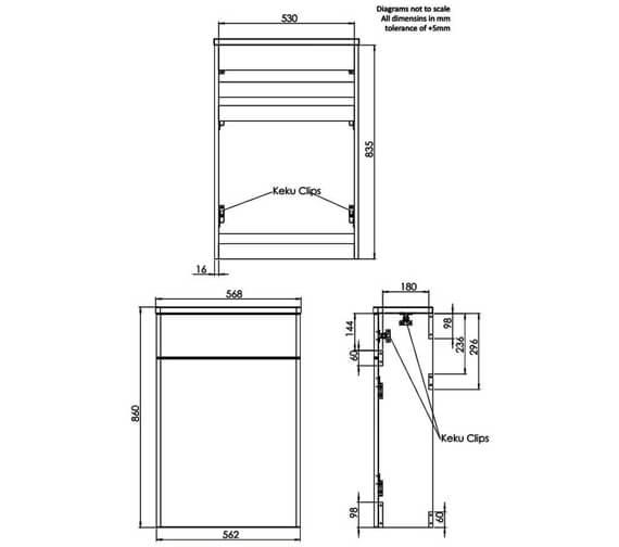 Technical drawing QS-V83944 / TABTWG